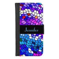 Personalized Mosaic Pattern iPhone 8/7 Wallet Case