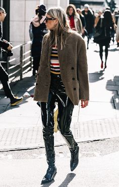 This Challenging Trend Is Dominating Fashion Week Street Style via @WhoWhatWearUK