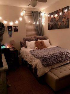 Small Room Bedroom, Room Ideas Bedroom, Girls Bedroom, Bedroom Ideas For Teen Girls Small, Diy Bedroom, Bedroom Wall, Diy Room Ideas, Stylish Bedroom, Bedroom Ideas For Small Rooms Cozy