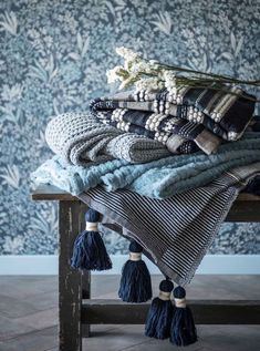 This Cozy Blue from Maisons du Monde covers all shades of blue. Trendy color Source by homelisty