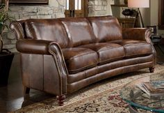 Leather couch - this one is D'Oro Leather, offering beautiful leather upholstery pieces like the curved sofa here - See more at: http://activerain.com/blogsview/2217971/another-new-furniture-line-added-leather-sofas-chairs-sectionals#sthash.rAOeM0iG.dpuf