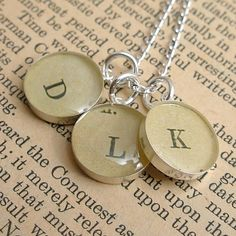 Mother Monogram Necklace with Three Initials by dlkdesigns