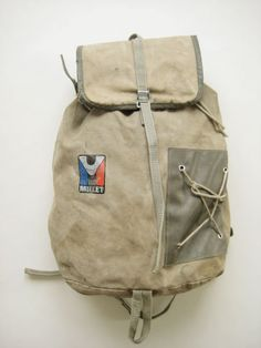 BRIDGE thrift store canvas rucksack / Made in France MILLET