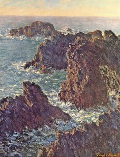 Pointes de rochers à Belle-Ile (C Monet - W 1102), 1886
