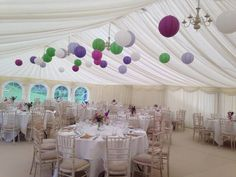 Multi colour lanterns - #marqueehireuk #marqueehire #Notts #Derby #Leicester #weddings #corporate #events