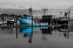 Love the blue boat! This photo is for sale.