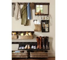 Need to organize your entryway? Check out these functional and beautiful entryway organization ideas! Roundup from Designer Trapped in a Lawyers Body. Entryway Decor, Entryway Storage, Organized Entryway, Small Entryway Organization, Entryway Closet, Organised Home, Pottery Barn Entryway, Kitchen Entryway Ideas, Front Door Shoe Storage