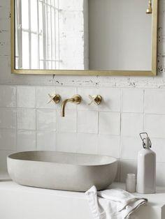 Bathroom Interior, Modern Bathroom, Small Bathroom, Bathroom Lamps, Bathroom Cabinets, Bathroom Ideas, Bathroom Wall, 1920s Bathroom, Ceramic Tile Bathrooms