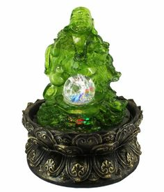 Indoor fountains  - Pin it :-) Follow us, CLICK IMAGE TWICE for Pricing and Info . SEE A LARGER SELECTION of indoor fountains at http://azgiftideas.com/product-category/indoor-fountain/  - gift ideas , home decor   - Lucky Buddha LED Indoor Tabletop Water Fountain with Crystal Ball