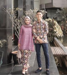 Image may contain: 2 people, people standing Kebaya Modern Hijab, Kebaya Hijab, Kebaya Brokat, Kebaya Dress, Batik Kebaya, Modern Hijab Fashion, Kebaya Muslim, Batik Fashion, Muslim Dress