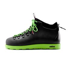 Fitzsimmons Boot (Black/Green)  by Native Shoes