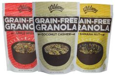 Wildway Grain-Free Granola won us over - so incredibly fresh tasting! The banana was our favorite. Paleo, vegan, gluten-free, dairy-free, soy-free.
