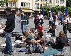 Juni 2012: Occupy-Proteste in Düsseldorf