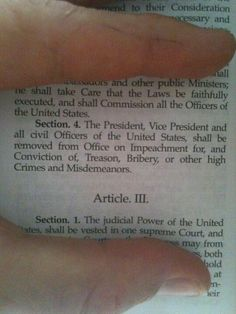 Section. 4. The President, Vice President, and all civil Officers of the United States, shall be removed from office on Impeachment for, and Conviction of, Treason, Bribery, or other High Crimes or Misdemeanors.