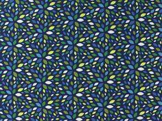 Baumwolljersey, Blaubeerstern, Blattwerk, blau, GL-JER-21,  bei stoffe-hemmers.de, Weicher und trendiger Baumwolljersey, Design Blaubeerstern Serie Blattwerk,
