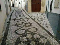 Empedrado realizado en Alhama de Granada,por empedrados Los Picantes.