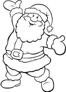 DESENHOS PARA PINTAR: Papai Noel.