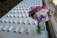 #cardtable #bouquet #roses #hydrangea #purple #flowers #weddingideas #pink #white #busybeeflorist