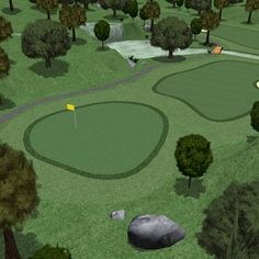 Golf Course 3D Model - 3D Model