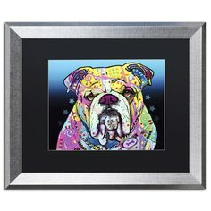 The Bulldog by Dean Russo Framed Painting Print