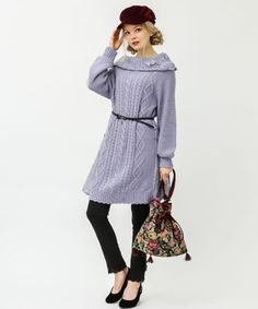 レース付オフタートルチュニ | axes femme online shop