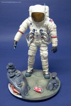 Man on the Moon polymer clay figure 8