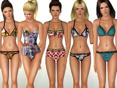 Swimwear SET 02 by ShakeProductions - Sims 3 Downloads CC Caboodle