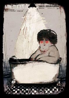 Madame Titanik,  polski plakat teatralny