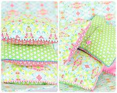 Lillesol und Pelle: Anleitung Kissen nähen mit Reißverschluss oder Knopfleiste