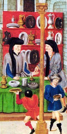 Medieval shop for tableware