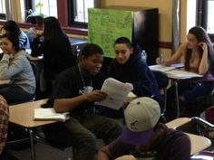 Students in Gregg Ninos' Global History class prepare for United Nations Conference.