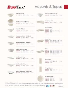 Accents & Tapas Collection from DuraTux by Tuxton China
