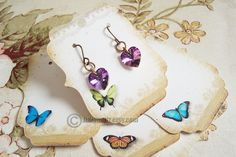 64 BUTTERFLY, Earring Cards, Jewelry cards,Necklace Card, Earring Display, Earring Holder, Necklace Holder by JulryPartZ on Etsy