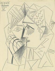 """Pablo Picasso - """"Head woman"""", 1965"""