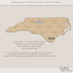 Great Escape - North Carolina - Corkboard