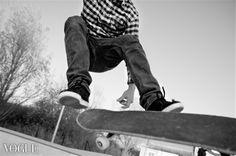PhotoVogue, skate, skateboard, black and white