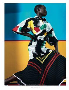 Lupita Nyong'o - 2014 February issue of Dazed & Confused magazine. #pleats