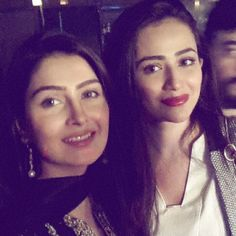 ayeza khan with sana javed on the sucess party of wrong number