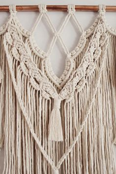 Stinson Studio is home to unique modern macramé gift sets and home décor. Let me add some texture to the most special corners of your life! Every piece in my shop is my own original design and carefully hand crafted by me. This listing is for the Fern large macramé wall hanging. She