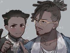 T'challa & Erik Killmonger || Black Panther || Cr: いよ。 Disney Marvel, Marvel Dc, Marvel Comics, Black Panther Art, Black Panther Marvel, Black Characters, Manga Characters, Comic Character, Character Design