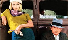 Faye Dunaway and Warren Beatty in a still from the film Bonnie and Clyde