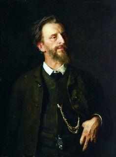 Ilia Repin Портрет художника Г.Г.Мясоедова. 1884