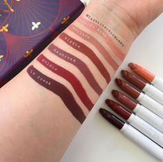 "ColourPop Lippie Kit in ""Persuede Me"" MATTE X LIPPIE STIX -Ziggie: Dark terracotta -Daydream: Toned plummy brown -Le Freak: Dark blackened red -Goldie: Rich brick burgundy -Hotline: Mid-tone dirty peach -Upside Down: Light nude peach $25.00"