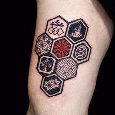 Getting The Best Dragon Tattoos – Japanese Dragon Tattoo Meanings Aztec Tattoo Designs, Tattoo Sleeve Designs, Sleeve Tattoos, Urban Tattoos, Neue Tattoos, Tattoo Placement Hip, Hip Tattoo Quotes, Tattoo Designer Online, Hexagon Tattoo