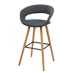 VOLDA GRIS FONCE chaise de bar - home24.fr - 199,99€ les 2