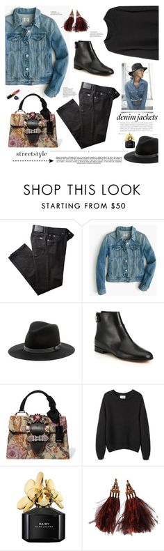"""""""Denim Jackets"""" by barngirl ❤ liked on Polyvore featuring BRAX, J.Crew, Sole Society, Whiteley, Gianvito Rossi, Miu Miu, La Garçonne Moderne, Marc Jacobs, Chanel and Louis Vuitton"""