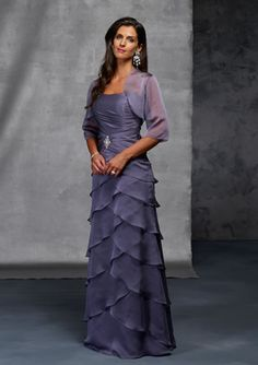 Tasteful Purple Layers Two Pieces Floor Length Sweetheart Mother Of Brides Dress In Canada Mother of Bride Dress Prices