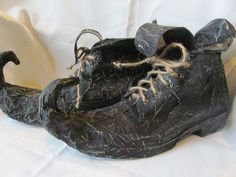 Halloween Primitive Witch Shoes/ Boots by HBakerStudio on Etsy
