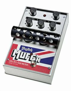 """Electro-Harmonix English Muff'n Tube Overdrive Pedal by Electro-Harmonix. $194.70. British invasion! Taking its roots from legendary British guitar amps, the English Muff'n recreates their majesty and classic tone with spot-on accuracy. Rather than approximating these amps like """"emulator"""" products, the English Muff'n employs vacuum tubes to produce the richness and natural saturation of Brit-valve sounds. A bloody masterpiece!"""
