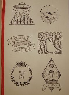 Xfiles inspired doodles